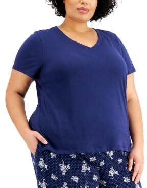 Charter Club Plus Size Sleep T-Shirt, Created for Macy's
