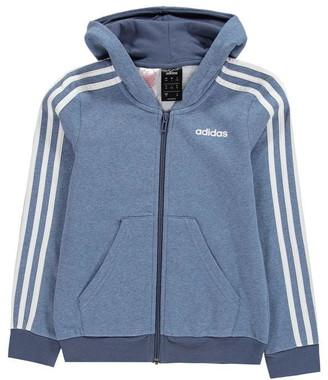 adidas Girls 3-Stripes Zip Track Top Hoodie