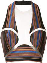 Balmain striped bralette