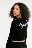 Juicy Couture For UO Long Sleeve Cropped Velour Top