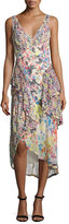 Jason Wu Mixed Floral-Print Chiffon Midi Dress, Multi