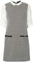 Dorothy Perkins Monochrome Jacquard 2-In-1 Shift Dress