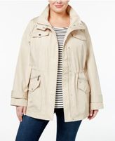 MICHAEL Michael Kors Size Hooded Utility Raincoat