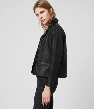 AllSaints Waver Leather Jacket
