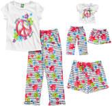 Dollie & Me White & Pink 'Peace Love' Pajama Set & Doll Ouftit - Girls
