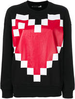 Love Moschino pixel heart sweatshirt