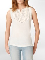 Calvin Klein Jeans Lace Detail Sleeveless Top