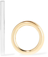 Jennifer Fisher Smooth Stick And Circle Gold And Silver-plated Earrings - One size