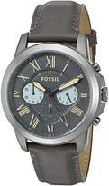 Fossil Men's FS5183 Grant Chronograph Gunmetal/Black Leather Watch