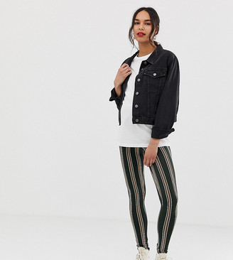 Asos DESIGN Maternity over the bump leggings in stripe print-Multi