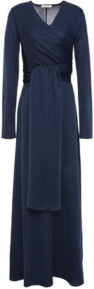 The Row Pionah Tie-front Silk-blend Maxi Dress