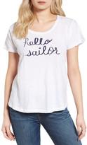 Sundry Hello Sailor Split Sleeve Cotton Tee
