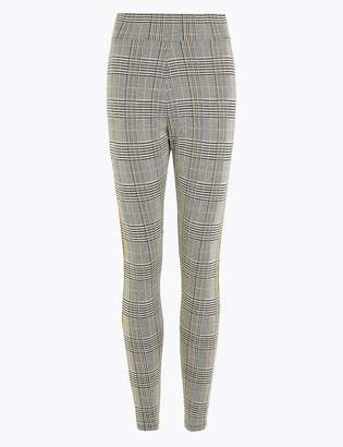 M&S CollectionMarks and Spencer Checked High Waist Ankle Grazer Leggings