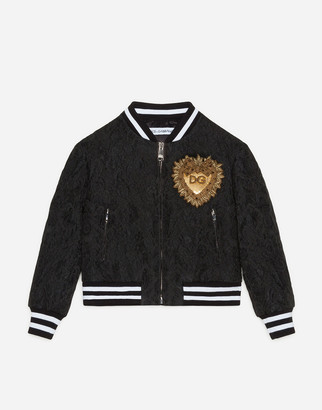Dolce & Gabbana Jacquard Bomber Jacket With Patch
