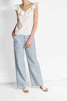 MiH Jeans M i H Flutter Top with Cotton and Linen