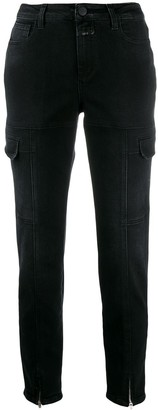 Closed ankle-zip slim jeans