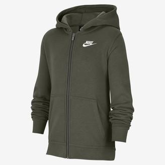 Nike Big Kids' Full-Zip Hoodie Sportswear Club