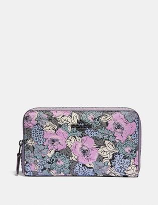 Coach Medium Zip Around Wallet With Heritage Floral Print