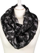 George Star Print Metallic-Shimmer Snood
