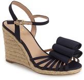 Kate Spade &biana& grosgrain bow wedge sandal (Women)