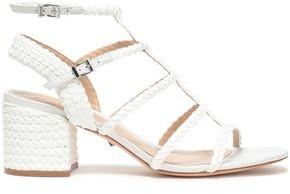 Schutz Braided Leather Sandals