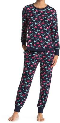 Jane & Bleecker New York Long Sleeve Top & Joggers 2-Piece Pajama Set