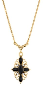 Downton Abbey Clear Crystal Drop Necklace
