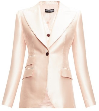 Dolce & Gabbana Single-breasted Mikado-silk Blazer - Light Pink