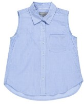 Tractr Girl's Sleeveless Chambray Shirt