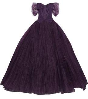 Zac Posen Off-the-shoulder Duchesse Silk-satin And Tulle Gown