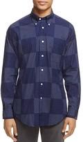 Brooks Brothers Indigo Block Print Regent Slim Fit Button-Down Shirt