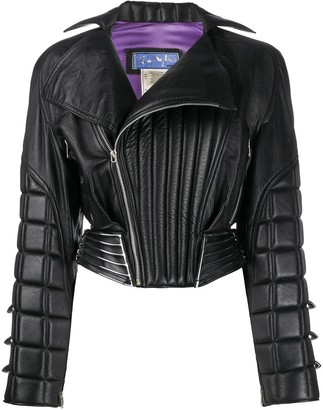 Thierry Mugler Pre Owned Padded Biker Jacket