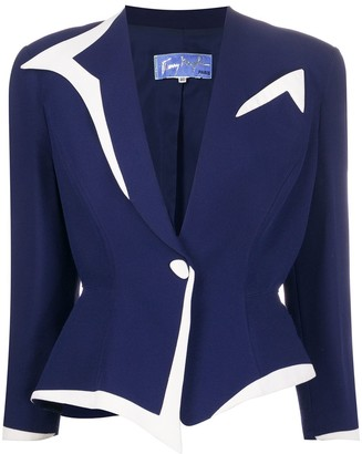 Thierry Mugler Pre Owned One Button Jacket