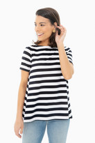 Demy Lee Navy Wide Stripe Claude Stripe Tee