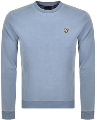 Lyle & Scott Indigo Crew Neck Sweatshirt Blue