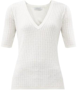 Gabriela Hearst Carolina V-neck Cashmere-blend Sweater - Ivory