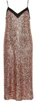 River Island Womens Pink sequin midi slip dress