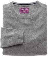 Charles Tyrwhitt Silver Cashmere Crew Neck Sweater Size Large