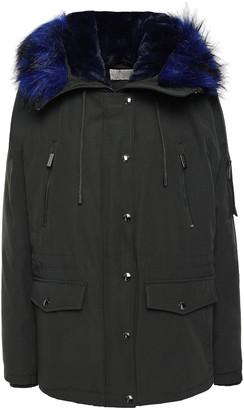 MICHAEL Michael Kors Faux Fur-trimmed Woven Hooded Down Jacket