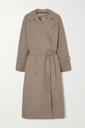 Totême Tech Cotton-blend Trench Coat - Beige