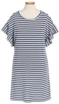 Cotton Emporium Girl's Ruffle Sleeve Dress