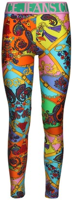 Versace Jeans Couture Printed Stretch Leggings