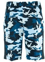 Givenchy Men's Blue Cotton Camouflage Board Shorts.
