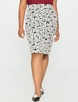 ELOQUII Plus Size Floral Knit Pencil Skirt