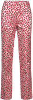 Oscar de la Renta metallic (Grey) floral trousers
