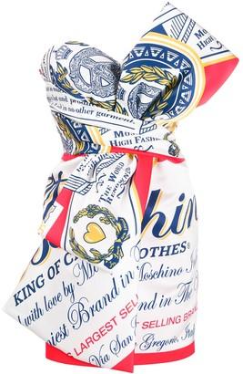 Moschino Bow Printed Short Dress