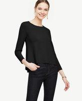 Ann Taylor Back Peplum Mixed Media Sweater