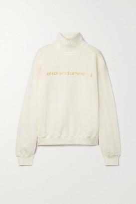 Alexander Wang Printed Cotton-jersey Turtleneck Sweatshirt