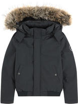 Little Eleven Paris Hooded bomber jacket