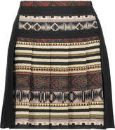 Etro Pleated printed wool-crepe mini skirt